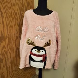 """3/$30 Super Soft Sherpa """"Chill out"""" Top NWOT"""